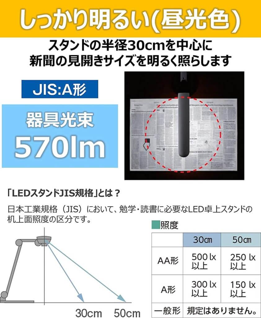 パナソニック LEDデスクライト 置き型SQ-LD310-W5